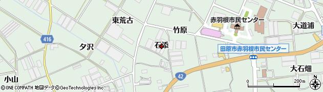 愛知県田原市赤羽根町(石添)周辺の地図