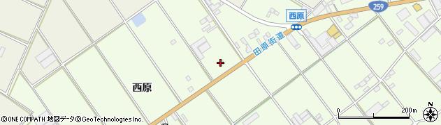 愛知県田原市保美町(西原)周辺の地図