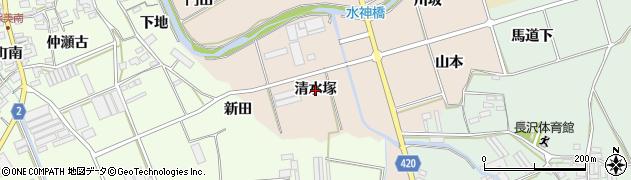 愛知県田原市福江町(清水塚)周辺の地図