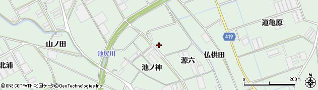 愛知県田原市赤羽根町(源六)周辺の地図