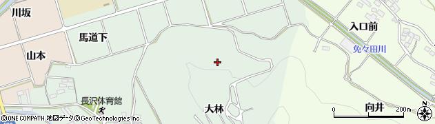 愛知県田原市古田町(大林)周辺の地図