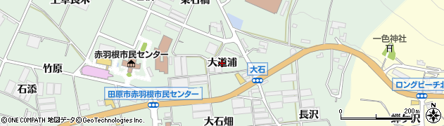 愛知県田原市赤羽根町(大道浦)周辺の地図