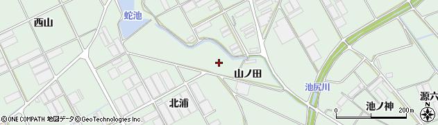 愛知県田原市赤羽根町(山ノ田)周辺の地図