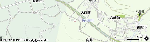 愛知県田原市山田町(郷戸)周辺の地図