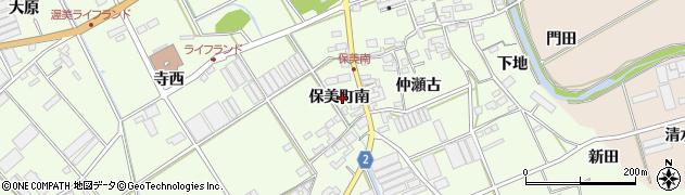 愛知県田原市保美町(南)周辺の地図