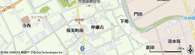 愛知県田原市保美町(仲瀬古)周辺の地図