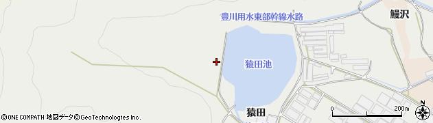 愛知県田原市若見町(猿田)周辺の地図