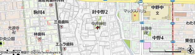 中井神社周辺の地図