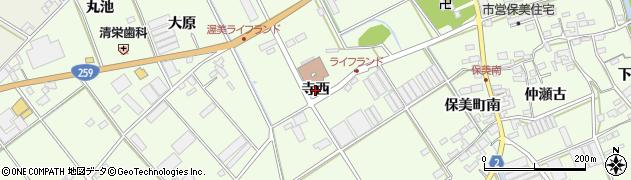 愛知県田原市保美町(寺西)周辺の地図
