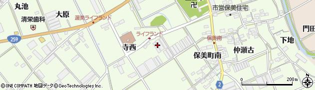 愛知県田原市保美町(仲原)周辺の地図