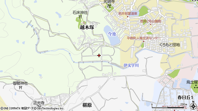 〒636-0925 奈良県生駒郡平群町越木塚の地図
