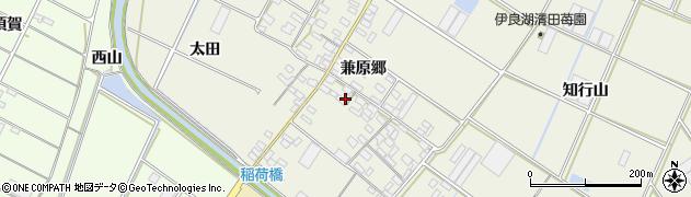 愛知県田原市中山町(兼原郷)周辺の地図