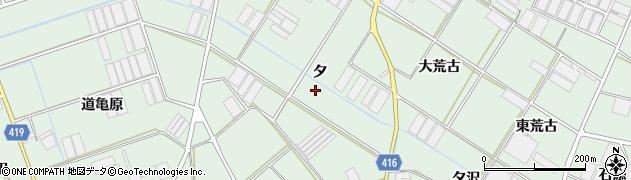愛知県田原市赤羽根町(夕)周辺の地図