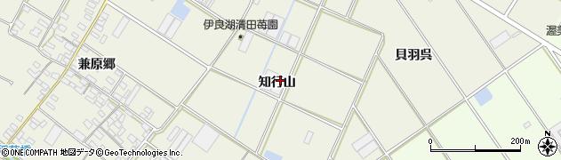 愛知県田原市中山町(知行山)周辺の地図