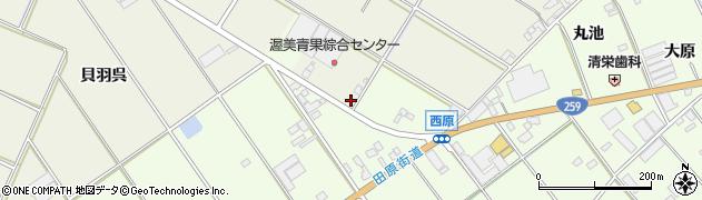 愛知県田原市中山町(東今田)周辺の地図