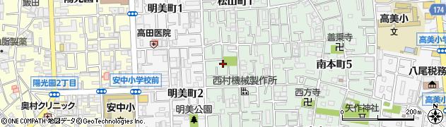 大阪府八尾市松山町周辺の地図