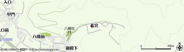 愛知県田原市山田町(若宮)周辺の地図