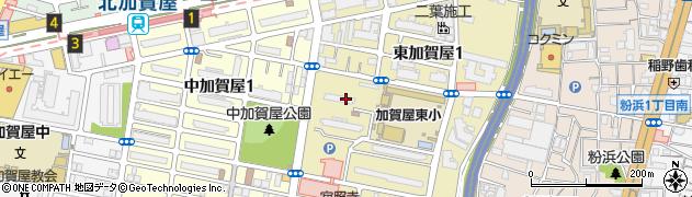 東加賀屋住宅周辺の地図