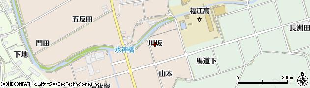 愛知県田原市福江町(川坂)周辺の地図