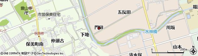 愛知県田原市福江町(門田)周辺の地図