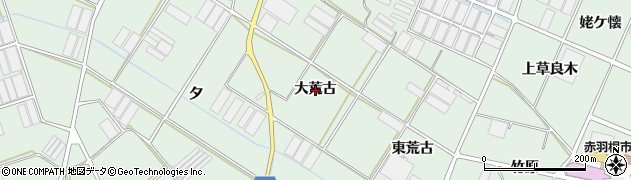 愛知県田原市赤羽根町(大荒古)周辺の地図