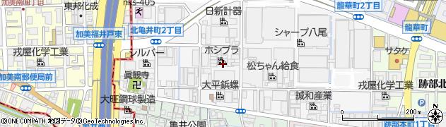 大阪府八尾市北亀井町周辺の地図