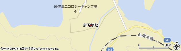 山口県萩市須佐(まてかた)周辺の地図