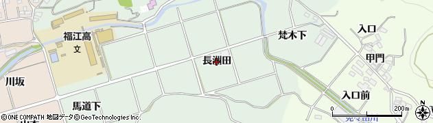 愛知県田原市古田町(長洲田)周辺の地図