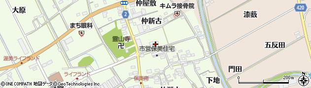 愛知県田原市保美町(仲屋敷)周辺の地図