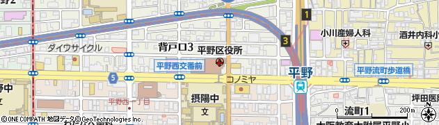 大阪府大阪市平野区周辺の地図