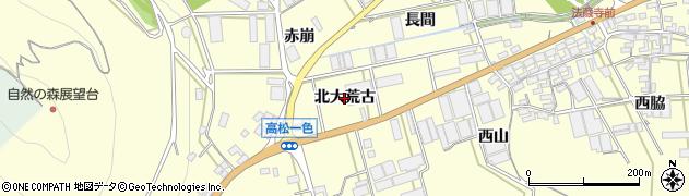 愛知県田原市高松町(北大荒古)周辺の地図