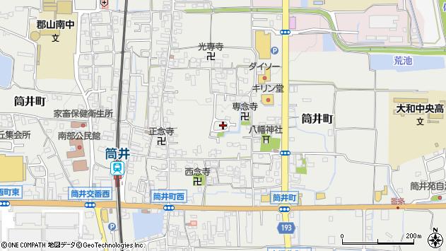 〒639-1123 奈良県大和郡山市筒井町の地図