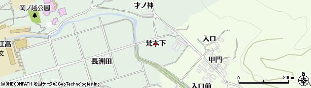 愛知県田原市古田町(梵木下)周辺の地図
