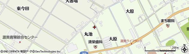 愛知県田原市保美町(丸池)周辺の地図