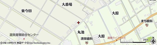 愛知県田原市中山町(大番場)周辺の地図