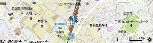 三重県名張市周辺の地図