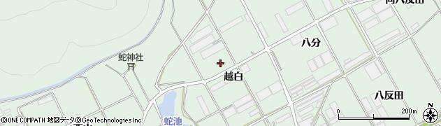 愛知県田原市赤羽根町(越白)周辺の地図