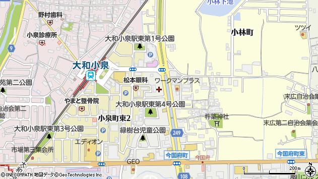 〒639-1045 奈良県大和郡山市小林町西の地図