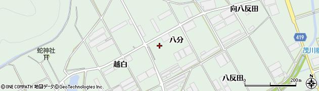 愛知県田原市赤羽根町(八分)周辺の地図