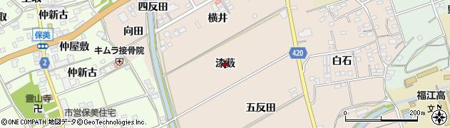 愛知県田原市福江町(漆薮)周辺の地図