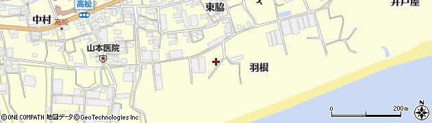 愛知県田原市高松町(羽根)周辺の地図