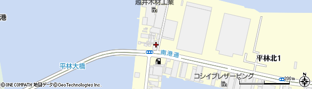 越井木材工業株式会社 本社西日本木材防腐部周辺の地図