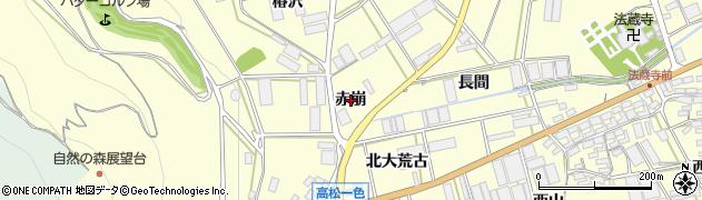 愛知県田原市高松町(赤崩)周辺の地図