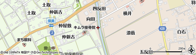 愛知県田原市福江町(三角田)周辺の地図