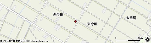 愛知県田原市中山町(西今田)周辺の地図