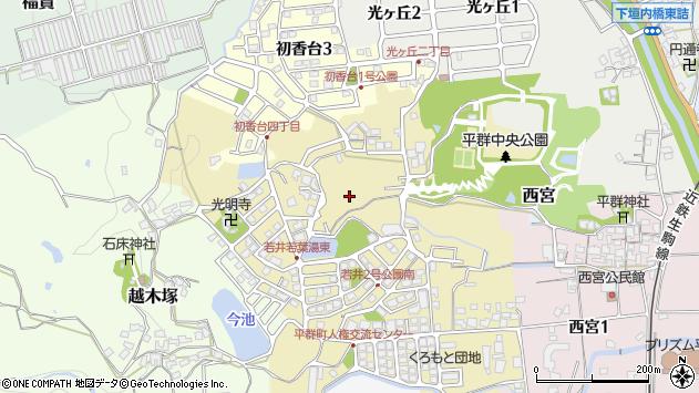〒636-0916 奈良県生駒郡平群町若井の地図