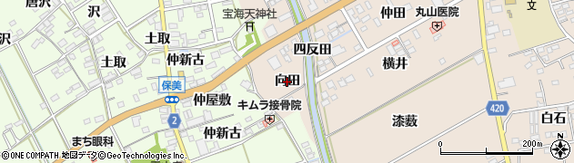 愛知県田原市福江町(向田)周辺の地図