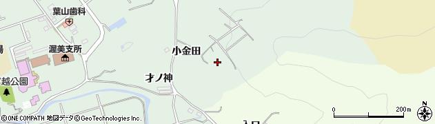 愛知県田原市古田町(小金田)周辺の地図