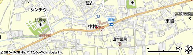 愛知県田原市高松町(中村)周辺の地図