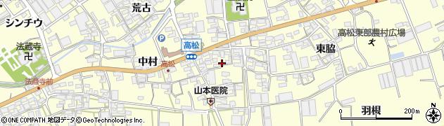 愛知県田原市高松町(中瀬古)周辺の地図